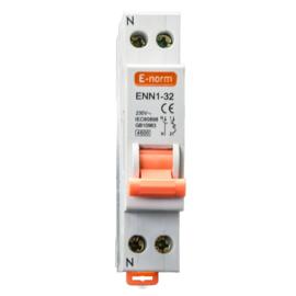 Installatieautomaat 1P+N 2A-B