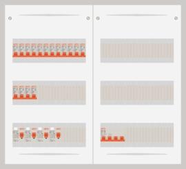 15.372.1600.40 - 3 fase 40A groepenkast-veldverdeler met 16 groepen
