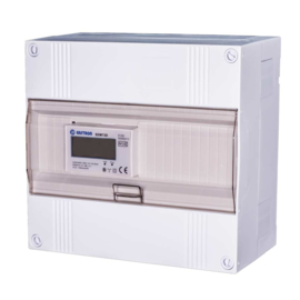 3 fase LCD modulaire kwh meter 100A in 12 modulen kast (tot max. 63A)