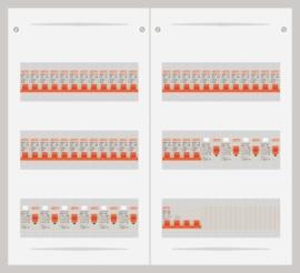 15.372.4000.40 - 3 fase 40A groepenkast-veldverdeler met 40 groepen