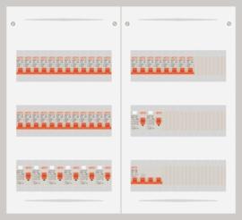 15.372.3200.40 - 3 fase 40A groepenkast-veldverdeler met 32 groepen