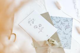 Kaart bloem 'Thinking of you'