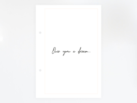 Quote 'Once upon a dream' - Printable