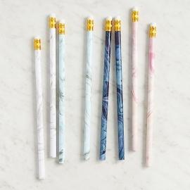 Marmer potloden, 8 stuks