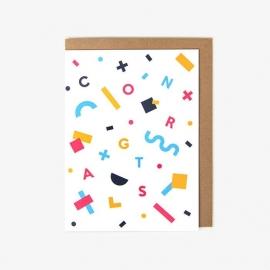 Kaart congrats confetti