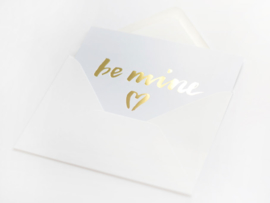 Kaart goud folie | Be Mine