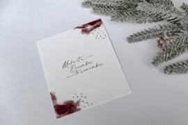 Kerstkaart met gouddruk - Make it a December to remember