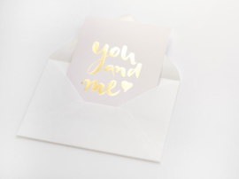 Kaart goud folie | You and me