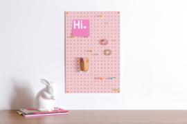 Pegboard Block | Pink