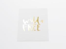 Kaart goud folie | Wild + Free