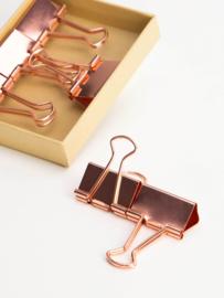 Binder clips koper, large 6x