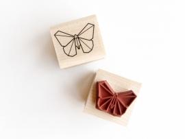 Stempel origami vlinder