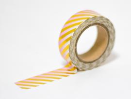 Masking tape | Goudfolie strepen ombre roze