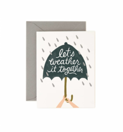Greeting card | Let's weather it together
