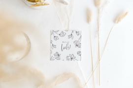 Mini Kaartje floral 'Liefs'