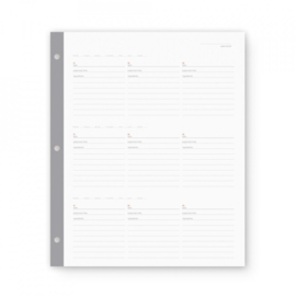 Large 3-rings binder menu planner