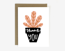 Dubbele kaart |  Thank You Potted Plant