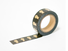 Masking tape | Gold foil pineapple black