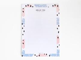Notepad A4 | Paint swipes blue