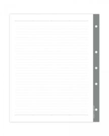 Large 3-rings binder gelinieerde pagina's
