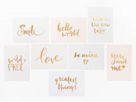 Greeting card gold foil | Now is the new later