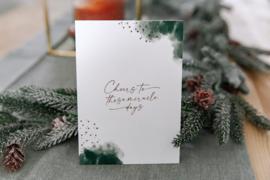Kerstkaart met gouddruk - Cheers to these miracle days