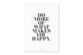Poster A4 Happy