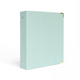 Mini binder - Linnen mint