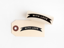 Stempel wimpel 'With Love'