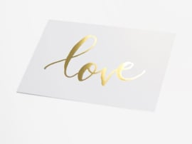 Kaart goud folie | Love