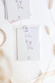 Kaart bloem 'With Love'