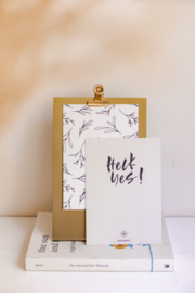 Clipboard Goud Frame Medium