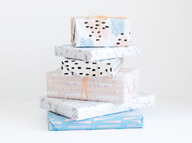 Wrapping paper | Happy blue