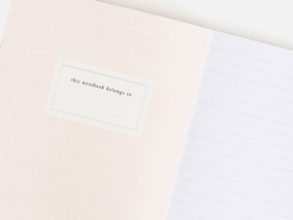 Notitieboek A5 | Paint swipes blush