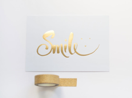 Greeting card gold foil | Smile
