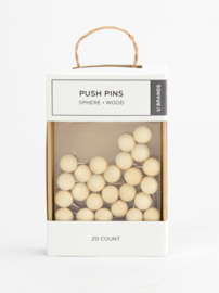 Wood sphere push pins