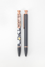 The Montery ballpoint pen | Floral & Grey