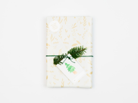 Dreamkey x Mevr. Knot X-mas | Wrapping paper Leaves