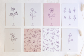 Set Kaarten Leaves & Flowers