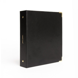 Mini 3 ring binder | Vegan black leather