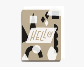 Greeting card | Hello Geometric Shapes