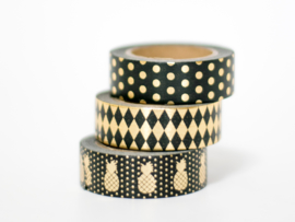 Masking tape | Gold foil diamonds