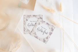 Mini Kaartje Leaves 'Gefeliciteerd'