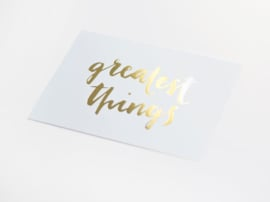 Kaart goud folie | Greatest things