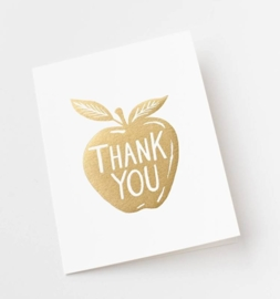 Greeting card | Thank you golden apple