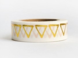 Masking tape | Gold foil triangles