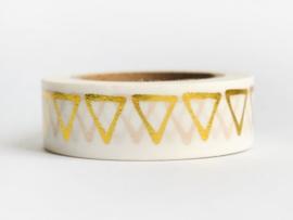 Masking tape | Goud folie driehoekjes