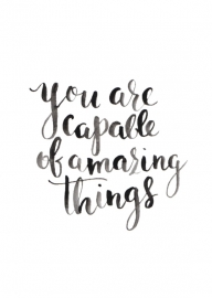 Greeting card | You are capable of amazing things