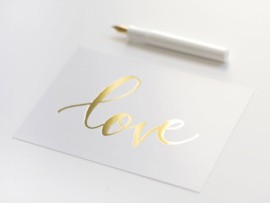 Greeting card gold foil | Love