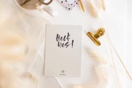 Kaart 'Heck Yes'
